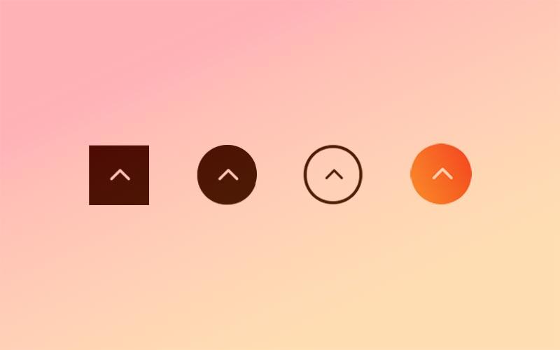 7 efectos CSS para personalizar el botón «volver arriba» de Divi