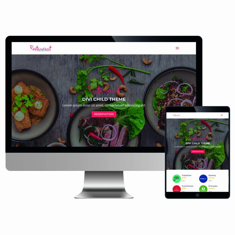 Plantillas Divi: Restaurant
