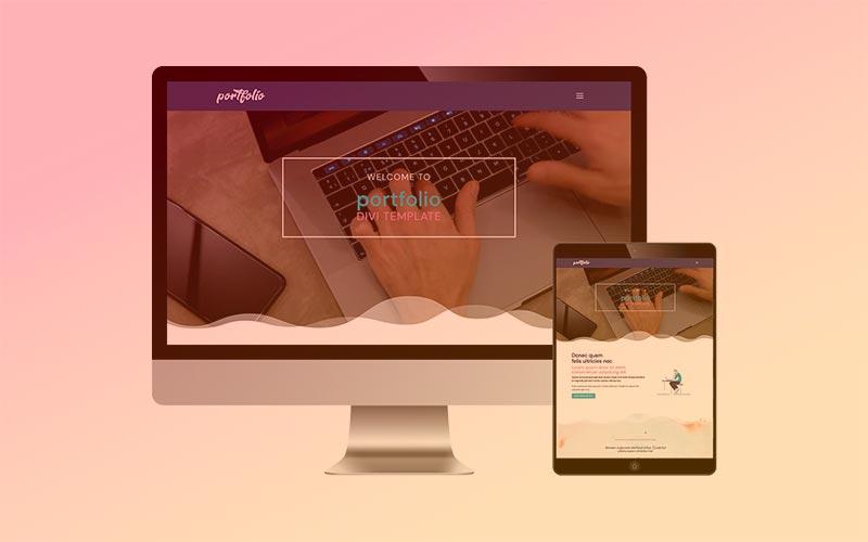Plantilla PORTFOLIO para Divi: muestra tus trabajos y proyectos de forma creativa