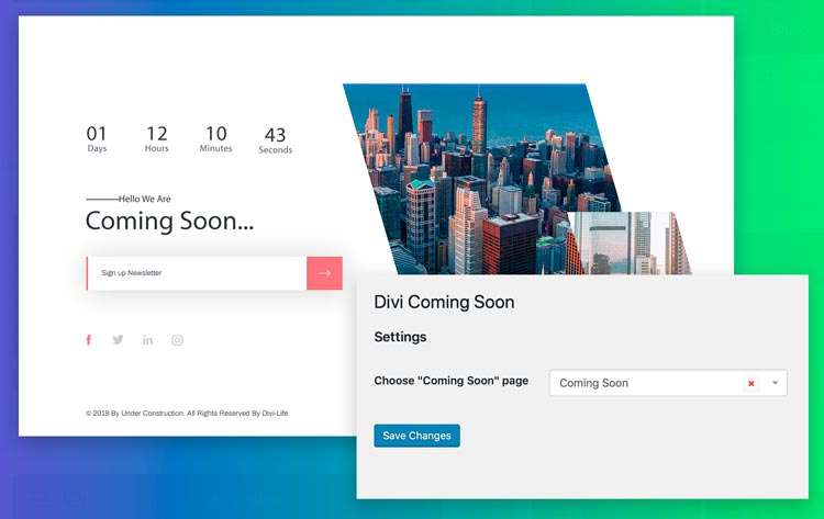 Plugins para Divi: Divi Coming Soon