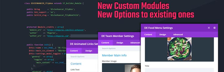 plugins para divi: DIVI Enhancer – DIVI Modules and Options