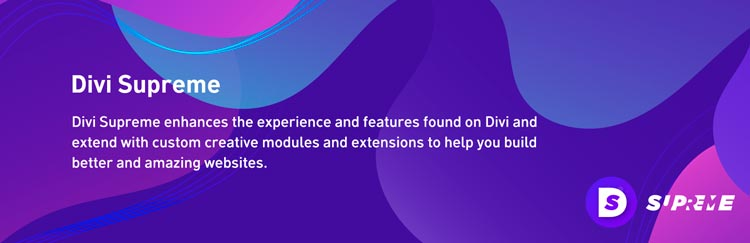 plugins para divi: Divi Supreme Modules