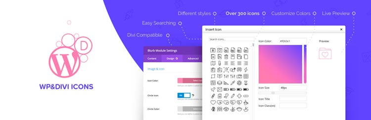 plugins para divi: WP and Divi Icons