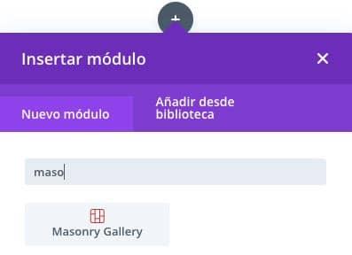 Plugin para crear galerías Masonry en Divi